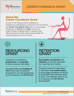 Career Comeback Grants Info Sheet