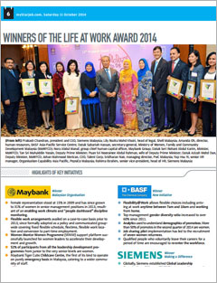 Winners of the Life at Work Award 2014