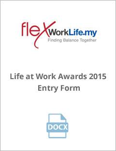 Life at Work Awards 2015 Entry Form