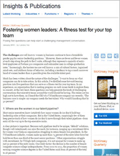 Fostering Women Leaders: A Fitness Test for Your Top Team