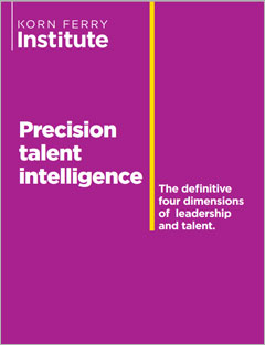 Precision Talent Intelligence – The Definitive of Four Dimensions of Leadership and Talent