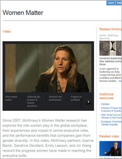 Women Matter 2013: McKinsey Report