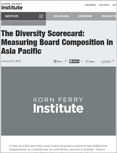 The Diversity Scorecard: Measuring Board Composition in Asia Pacific