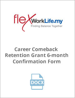 Career Comeback Retention Grant 6-month Confirmation Form