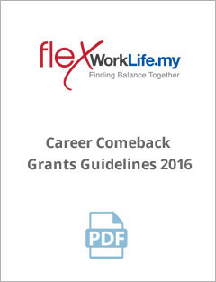 Career Comeback Grants Guidelines 2016